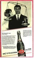 Reklame Werbeanzeige  -  Rüttgers Club  -  Wie Beurteilt Man Einen Sekt?  - Von 1965 - Alkohol