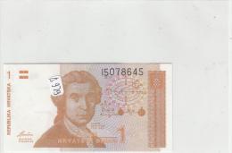 Billets - B929 -  Croatie  - Billet  1  - Etat Neuf  ( Type, Nature, Valeur, état... Voir 2 Scans) - Croatia