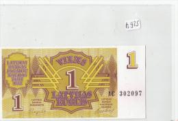 Billets - B925 -  Lettonie     - Billet  1     - Etat Neuf  ( Type, Nature, Valeur, état... Voir 2 Scans) - Latvia