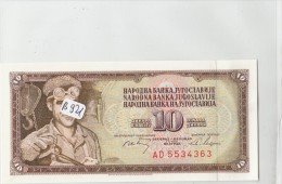 Billets - B921 - Yougoslavie   - Billet  10 Dinara  1968     - Etat Neuf  ( Type, Nature, Valeur, état... Voir 2 Scans) - Yugoslavia