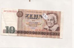 Billets - B943 - Allemagne ( DDR)    - Billet  10 Mark 1971 ( Type, Nature, Valeur, état... Voir 2 Scans) - [ 6] 1949-1990 : GDR - German Dem. Rep.