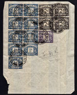 F0007 GREAT BRITAIN 1939, SG D29, D30 & D33 Postage Dues Used On Piece - Postage Due