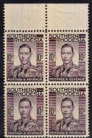G5007 SOUTHERN RHODESIA 1937, SG 47, 10d Marginal Block Of 4   MNH - Southern Rhodesia (...-1964)