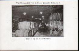 PAYS BAS - WIJN-RESTAURANT FRITZ & HENRI BONESKI. ROTTERDAM - GEZICHT OP DE FUSTENKELDERS - Rotterdam