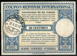 SUISSE:  Coupon-réponse International (1952)