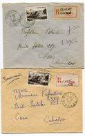 GIRONDE De GENSAC  2  Enveloppes  Recommandées De  1950 1951 - 1921-1960: Periodo Moderno