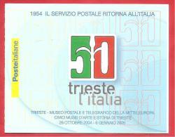 ITALIA REPUBBLICA - LIBRETTO MNH - 2004 - Trieste (4 Esemplari Da 0,45 €) -  S. L26 - 6. 1946-.. República