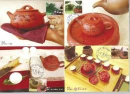 10 Maxi Cards 2006 Taiwan Tea Ceremony Stamps Teapot Pot Tea Leaf Lady - Drinks
