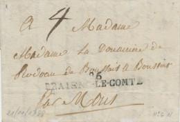 085/21 -- Lettre Précurseur 86 BRAISNE LE COMTE 1799 Vers MONS - Herlant 6 - Port 4 Décimes - 1794-1814 (French Period)