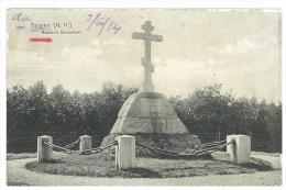 CARTOLINA - BERGEN - RUSSICH MONUMENT -  VIAGGIATA NEL 1914 - OLANDA - Monuments
