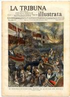 Rivista Del 1909  Fire At ACAPULCO Guerrero Mexico + Butteri Salvano Auto A CORNETO TARQUINIA Viterbo LITHO - Vor 1900