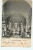 SAINT ANTOINE DES HAUTS BUTTES : Le Choeur, Eglise Intérieur. Dos Simple. 2 Scans. Edition Gelly - Altri Comuni