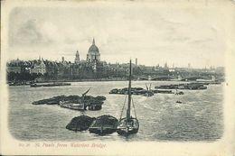 PC London St. Paul's From Waterloo Bridge 1908 #11 - River Thames