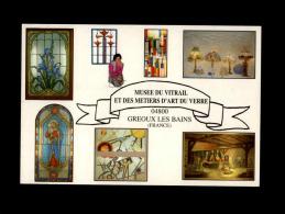 04 - GREOUX-LES-BAINS - Musee Du Vitrail Et Des Métiers D'Art Du Veree - Vitraux - Multi Vues - Gréoux-les-Bains