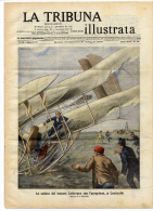 1909 Italian Magazine Opium Den At London   LITHO Fumeria Di Oppio A Londra + Caduta Aereo A Centocelle - Avant 1900