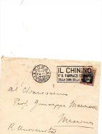1928 LETTERA  CON ANNULLO ROMA  + TARGHETTA IL CHININO - 1900-44 Vittorio Emanuele III