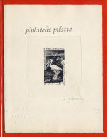 MAURITANIE PA N°19 EPREUVE D´ARTISTE OISEAU COULEUR EN NOIR - Mauretanien (1960-...)