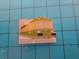 (pin713a) Pin´s Pins / Thème :TRANSPORT / TRAIN SNCF AUTORAIL DE LA SUISSE NORMANDE CALVADOS TUNNEL  / MARQUAGE AU DOS : - Transports