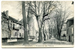 Crémieu (38) - Promenade Des Tilleuls - Circulé En 1921 - Crémieu