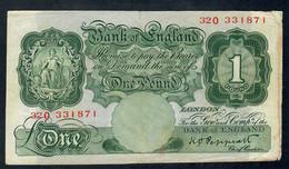 GREAT-BRITAIN P369  1  POUND 1948  FINE - …-1952 : Before Elizabeth II