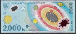 ROMANIA  P111   2000 LEI   1999    UNC. # 008E0947622 - Rumania