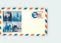 USA  -  Intero Postale  -    CAPO  INDIANO  A  CAVALLO - American Indians