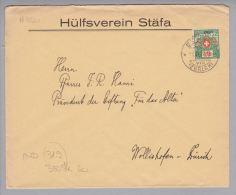Heimat ZH Stäfa  1929-04-03 Portofreiheitsbrief Mit Zu#13A GR#880 20Rp. Hülfsverein Stäfa - Franchise