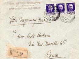 1930  LETTERA RACCOMANDATA  CON ANNULLO ROMA  29 VITTORIA COLONNA - Poststempel