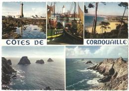 Dépt 29 - CÔTES-DE-CORNOUAILLE - (CPSM 10.4x14.8 Cm) -Multi-Vues - Penmarch, Douarnenez, Guilvinec, Pointe Du Raz - France