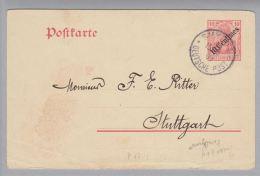 DR Dt.Post In D.Türkei 1908-05-15 Smyrna 10C. Ganzsache Mi#P17 Nach Stuttgart - Offices: Turkish Empire