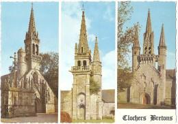 Dépt 29 - CLOCHERS BRETONS - CPSM 10,4 X 14,8 Cm - Multi-vues (3 Vues) - France
