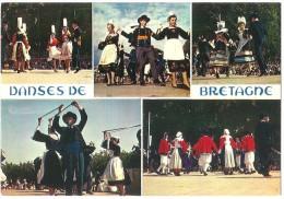Dépt 29 - DANSES DE BRETAGNE - (CPSM 10.3x14.8 Cm) - Multi-Vues - (Groupes De Différentes Villes) - France