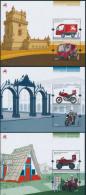 "PORTUGAL/AZORES/MADEIRA, EUROPA 2013 ""Postal Vehicles"" Set Of 3 Blocks** - 2013"