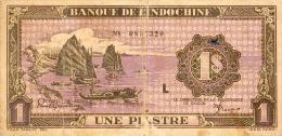 Indochina, Pick Nr. 60, 1 Piastres, RARE ! - Indochina