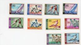 Ajman-JO Tokyo-divers Sports-MI 31/40B***MNH-NON DENTELE - Sommer 1964: Tokio