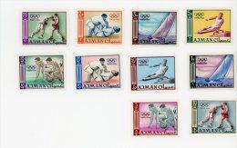 Ajman-JO Tokyo-divers Sports-MI 31/40A**MNH- DENTELE - Sommer 1964: Tokio
