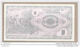 Macedonia - Banconota Non Circolata Da 10 Dinari P-1a - 1992 - Macedonia