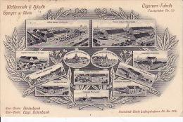 439#  Wellensiek & Schalk Cigarren Fabrik SPEYER A Rhein 1909 Cigarette Tabac - Speyer