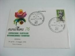Esposizione Filatelico Internazionale Tematica Euroflora 76 Genova Fiera Del Mare - Manifestazioni