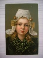 Cartolina Illustrata BAMBINA Costume Tipico. 1915 - Costumi
