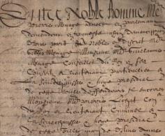 ANGERS 1648 Gilles MENAGE 1613-1692 Célèbre Grammairien, Historien Et écrivain – Parchemin Ancien Régime Anjou - Documents Historiques