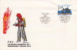 Finland, FDC 15.8.1988 (5440) - Sapeurs-Pompiers