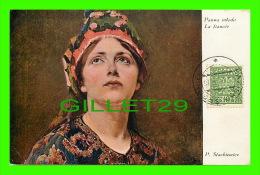 POLOGNE - MALARSTWO POLSKIE - PANNA MLODA - LA FIANCÉE - CIRCULÉE EN 1932 - - Pologne