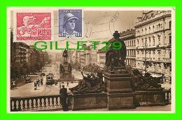 PRAGUE, TCHÉQUIE - WENCESLAS SQUARE - CIRCULÉE EN 1948 - PLACE VENCESLAS - - Tchéquie