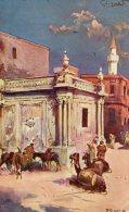 [DC8953] LIBIA - TRIPOLI - LA FONTANA DELL'ACQUA DI BUMELIANA - Viaggiata 1912 - Old Postcard - Libia