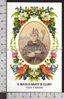 Xsa-11741 S. San MAIOLO ABATE DI CLUNY SOUVIGNY Santino Holy Card - Religion & Esotericism