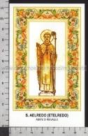 Xsa-11749 S. San AELREDO ETELREDO ABATE DI RIEVAULX HEXHAM Santino Holy Card - Religión & Esoterismo