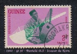 1962 - Afrique - Timbre De Guinée - Joueur De Kora - 2 F.  Lilas, Rouge Et Vert - - Music