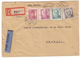 Lettre Recommandée Tchécoslovaquie 1946 Pernink - Genève CH (514) - Briefe U. Dokumente