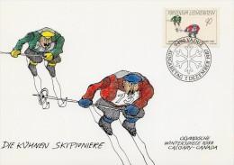 """LIECHTENSTEIN 1987 : CM """" LES AUDACIEUX PIONNIERS DU SKI """". Parfait état + Prix Dégressif !"""